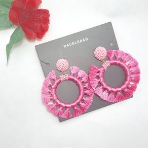 BaubleBar Pink Adrita Hoop Earrings